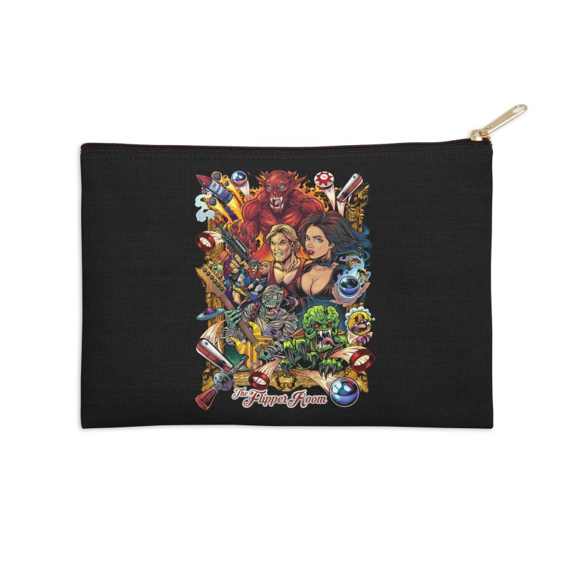 Pinball Portrait Accessories Zip Pouch by The Flipper Room Shop