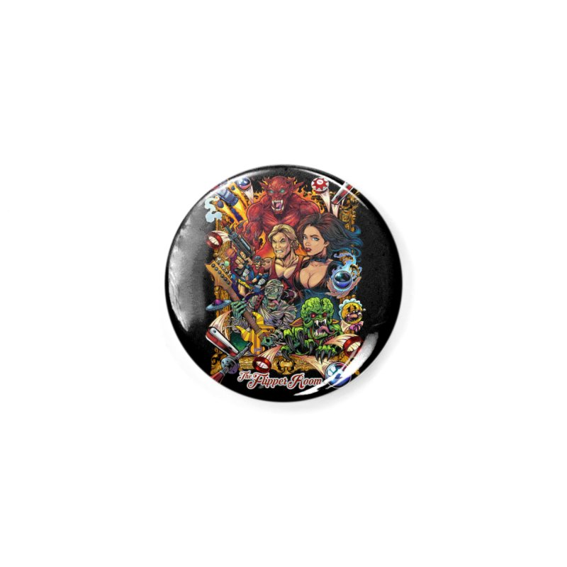 Pinball Portrait Accessories Button by The Flipper Room Shop