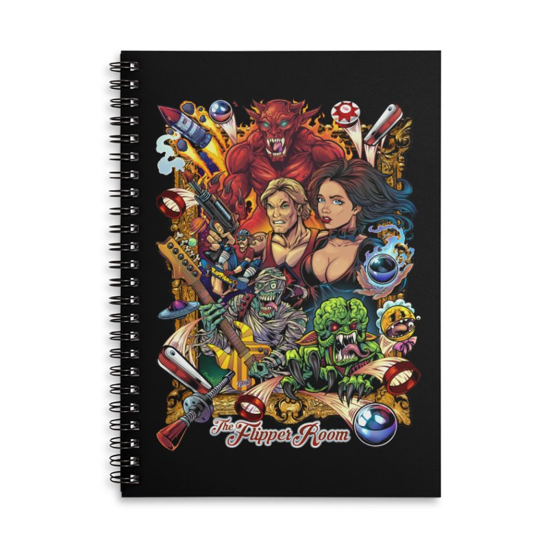 Pinball Portrait Accessories Notebook by The Flipper Room Shop