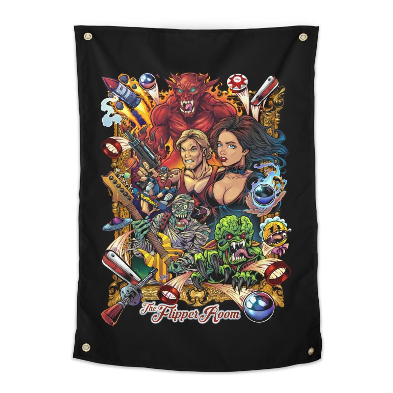Pinball Portrait Home Tapestry by The Flipper Room Shop