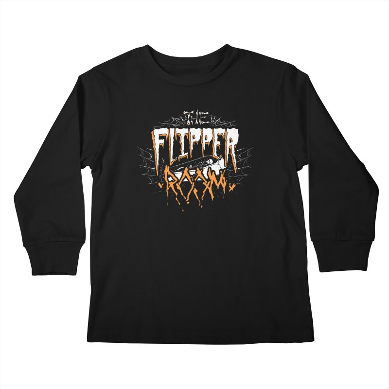 TFR Halloween Logo Kids Longsleeve T-Shirt by The Flipper Room Shop