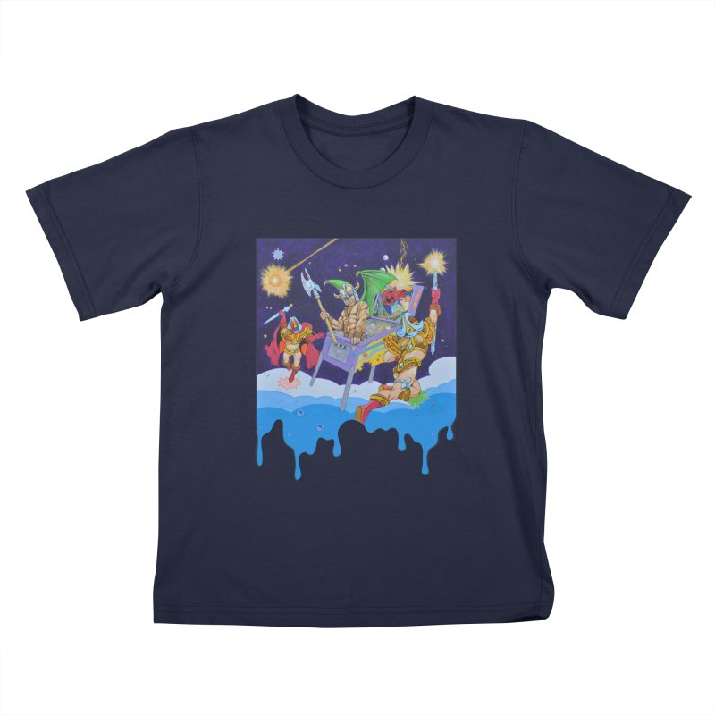 Pinball Dreaming Kids T-Shirt by The Flipper Room Shop