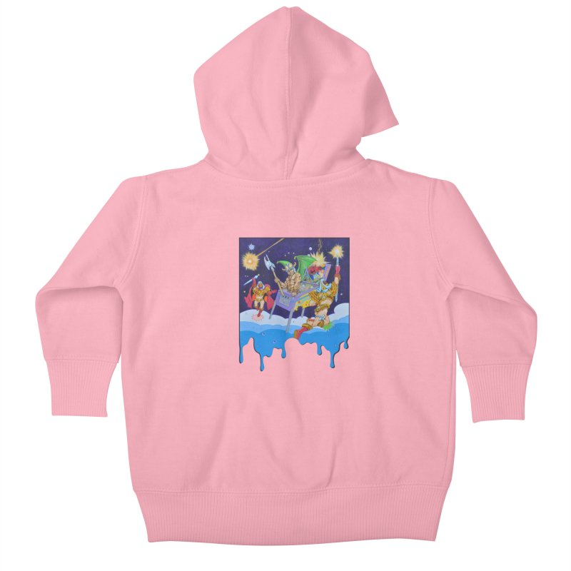 Pinball Vision Kids Baby Zip-Up Hoody by The Flipper Room Shop