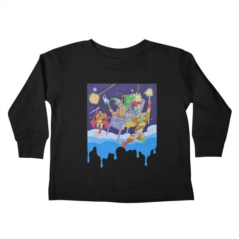 Pinball Vision Kids Toddler Longsleeve T-Shirt by The Flipper Room Shop
