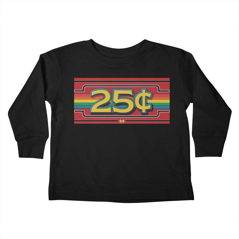 25 Cent Retro1 Kids Toddler Longsleeve T-Shirt by The Flipper Room Shop