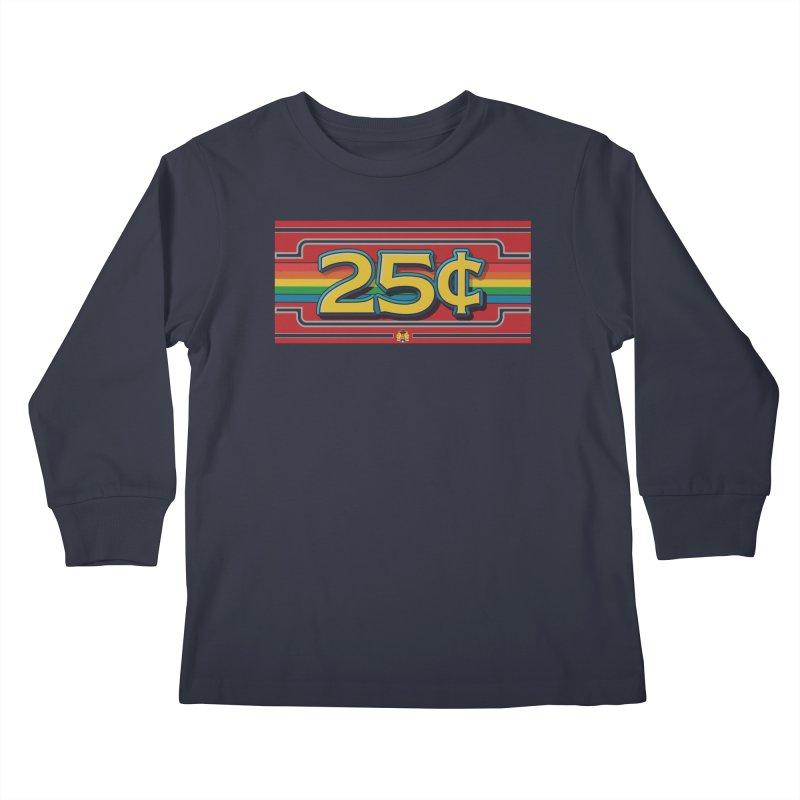 25 Cent Retro1 Kids Longsleeve T-Shirt by The Flipper Room Shop