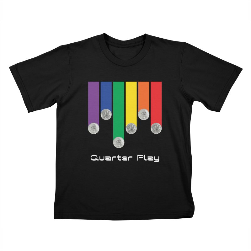 Quarter Play Kids T-Shirt by The Flipper Room Shop