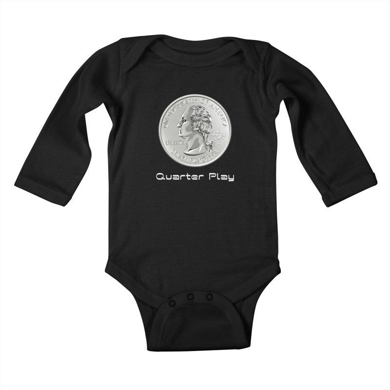Heads - Quarter Play Kids Baby Longsleeve Bodysuit by The Flipper Room Shop