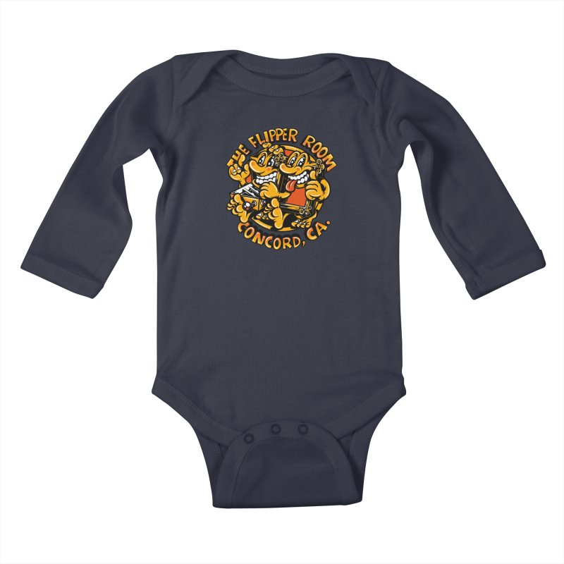 Pinball & Picture Frame Buddies Kids Baby Longsleeve Bodysuit by The Flipper Room Shop