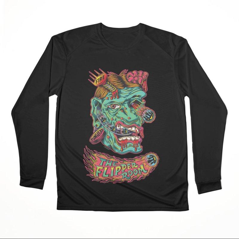 Plungi-head (Black Only) Women's Longsleeve T-Shirt by The Flipper Room Shop