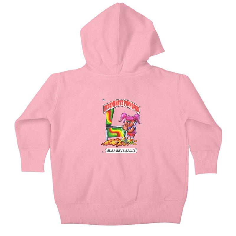 Slap Save Sally Kids Baby Zip-Up Hoody by The Flipper Room Shop