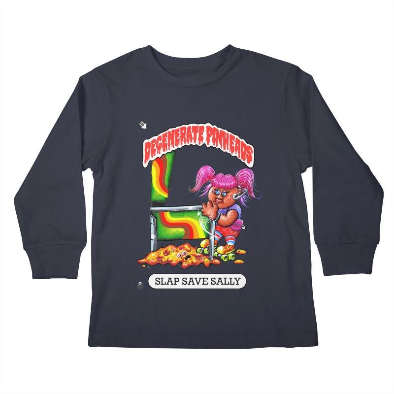 Slap Save Sally Kids Longsleeve T-Shirt by The Flipper Room Shop