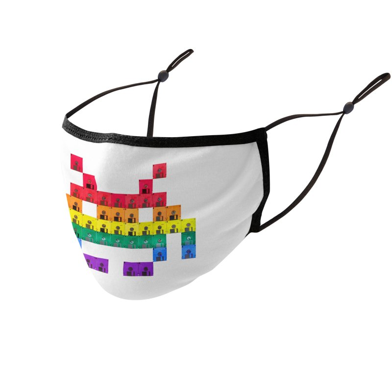 DISK SPACE INVADER Accessories Face Mask by the floppy guy