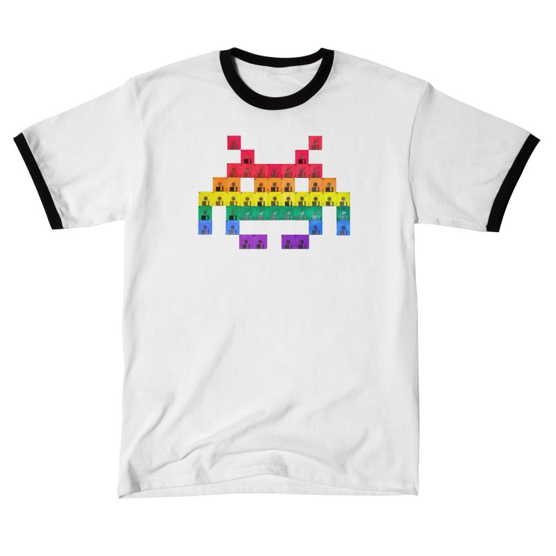DISK SPACE INVADER Men's T-Shirt by the floppy guy