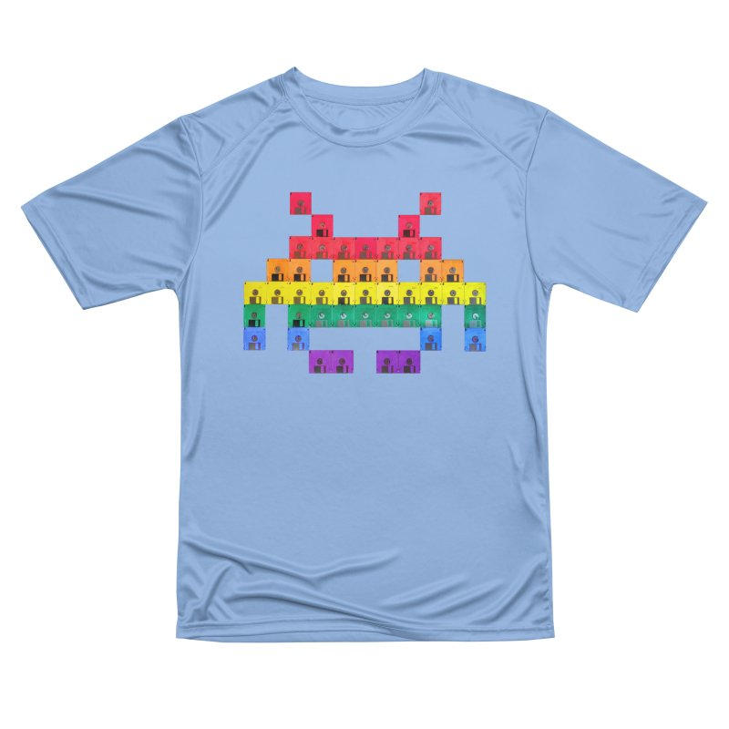 DISK SPACE INVADER Women's T-Shirt by the floppy guy
