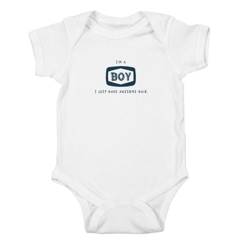 I'm a boy. I just have awesome hair.    by The Future Mrs. Darcy T-shirt Shop