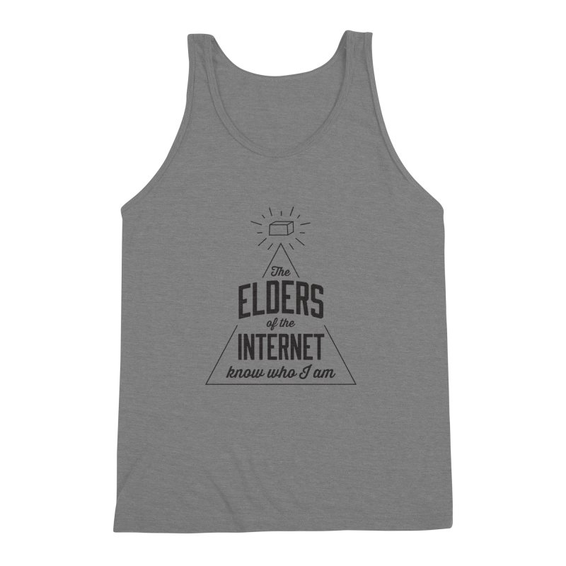 The Elders of the Internet Men's Triblend Tank by The Future Mrs. Darcy T-shirt Shop