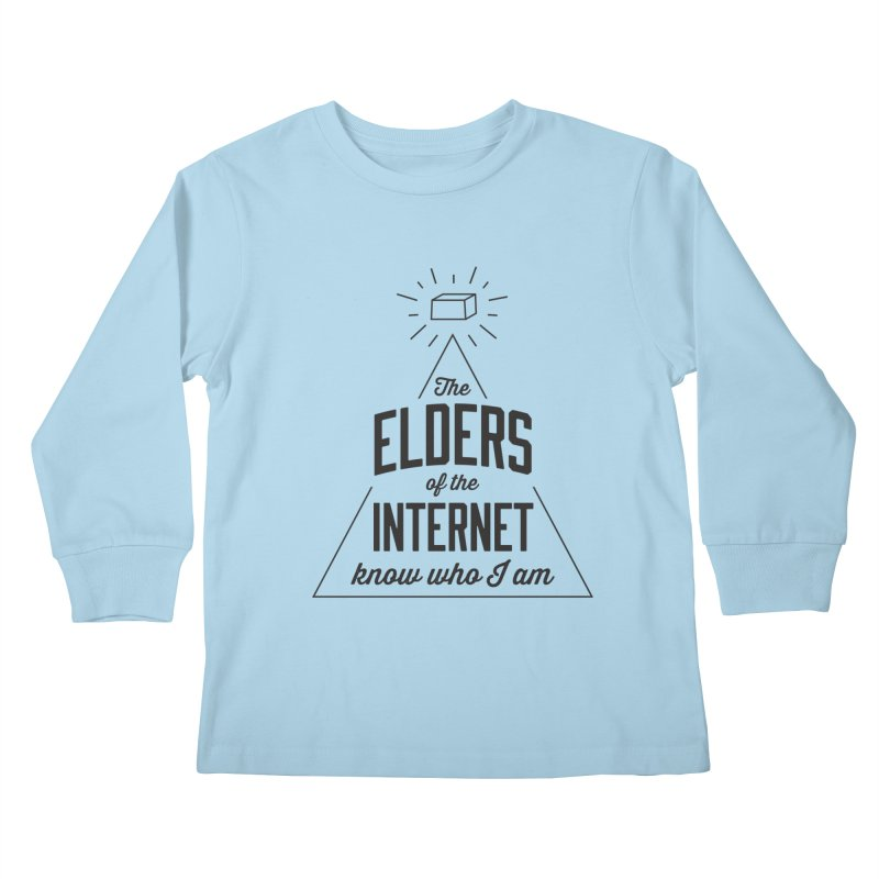 The Elders of the Internet Kids Longsleeve T-Shirt by The Future Mrs. Darcy T-shirt Shop