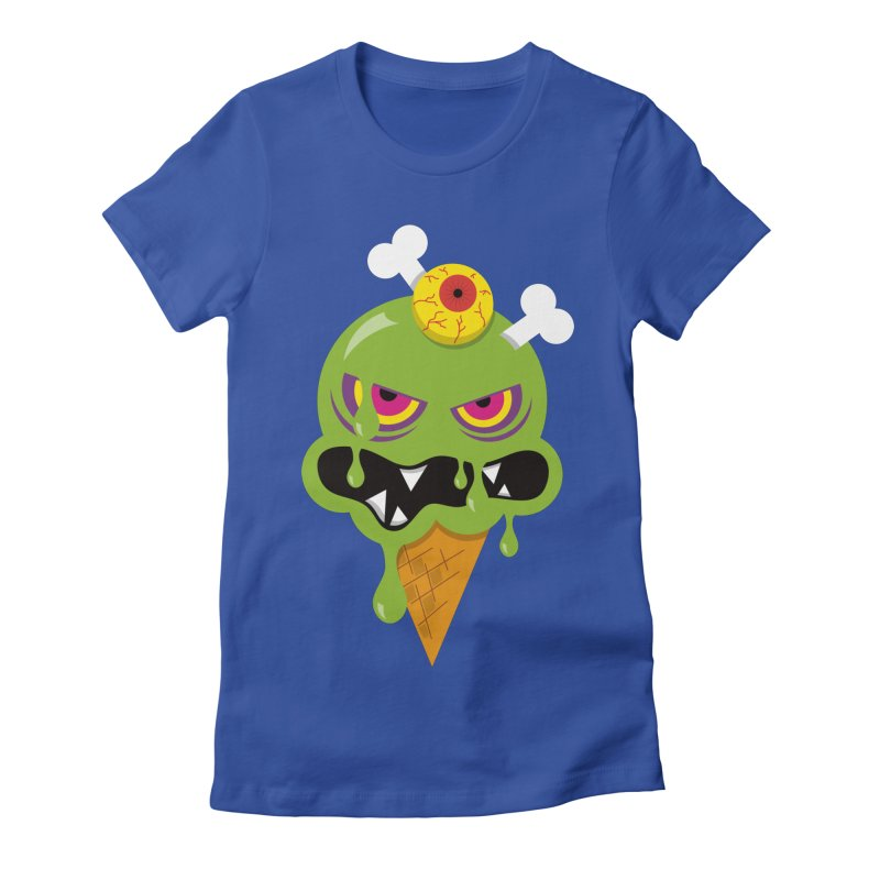 ICE-SCREAM Women's Fitted T-Shirt by theGHOSTHEART's artist shop