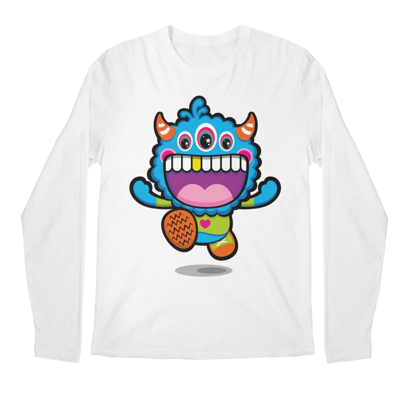 SUPER HAPPY FUN TIME! YAY! Men's Regular Longsleeve T-Shirt by theGHOSTHEART's artist shop