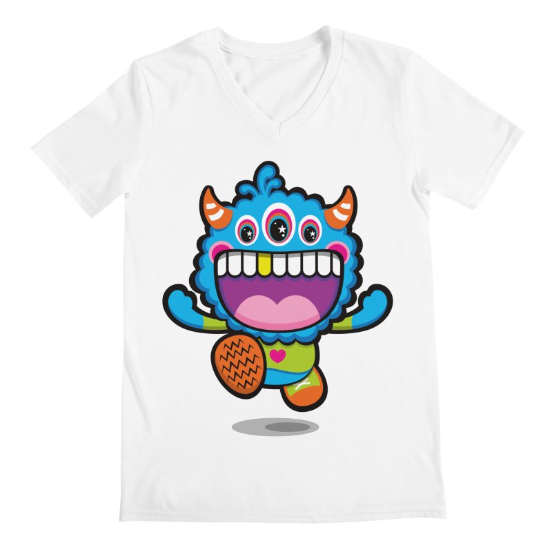 SUPER HAPPY FUN TIME! YAY! Men's Regular V-Neck by theGHOSTHEART's artist shop