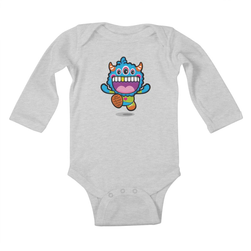 SUPER HAPPY FUN TIME! YAY! Kids Baby Longsleeve Bodysuit by theGHOSTHEART's artist shop