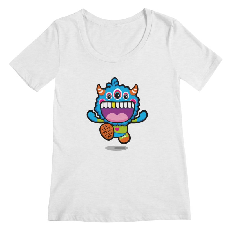 SUPER HAPPY FUN TIME! YAY! Women's Regular Scoop Neck by theGHOSTHEART's artist shop