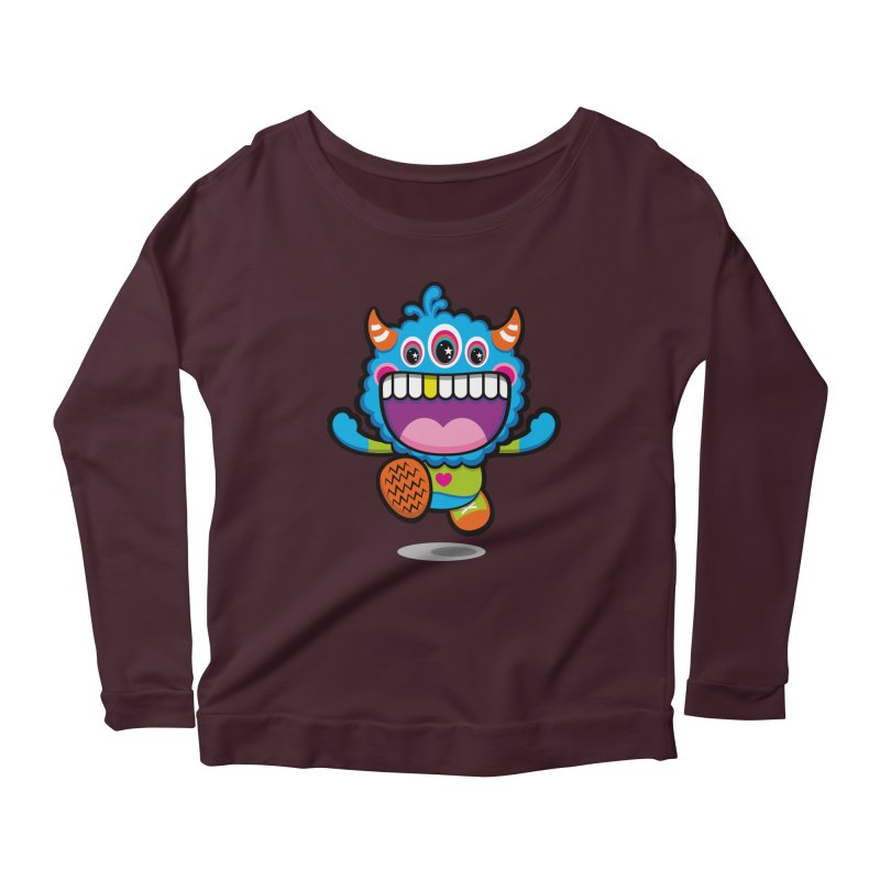 SUPER HAPPY FUN TIME! YAY! Women's Scoop Neck Longsleeve T-Shirt by theGHOSTHEART's artist shop