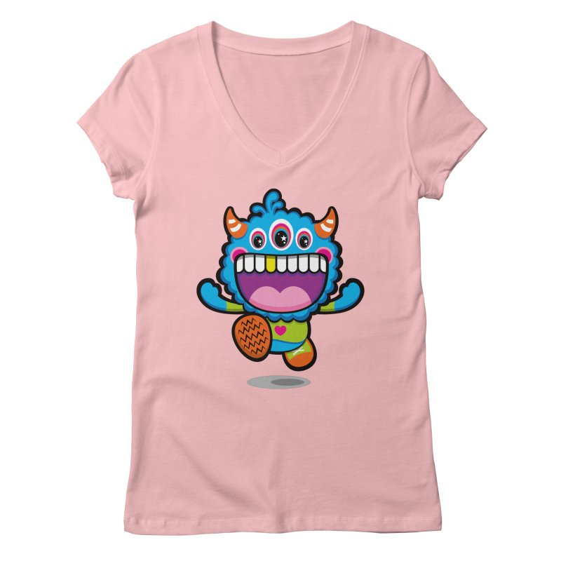 SUPER HAPPY FUN TIME! YAY! Women's Regular V-Neck by theGHOSTHEART's artist shop