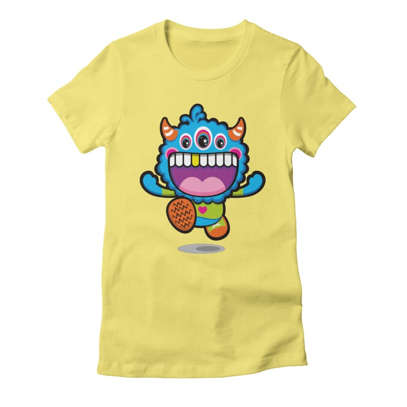 SUPER HAPPY FUN TIME! YAY! Women's Fitted T-Shirt by theGHOSTHEART's artist shop