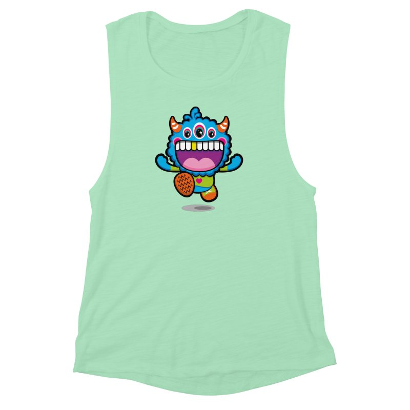 SUPER HAPPY FUN TIME! YAY! Women's Muscle Tank by theGHOSTHEART's artist shop