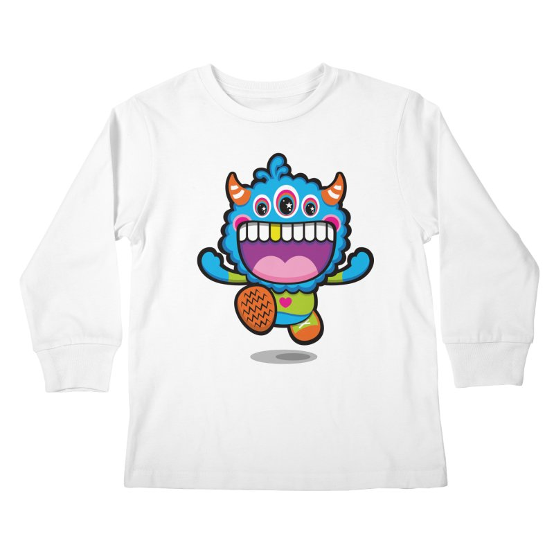 SUPER HAPPY FUN TIME! YAY! Kids Longsleeve T-Shirt by theGHOSTHEART's artist shop