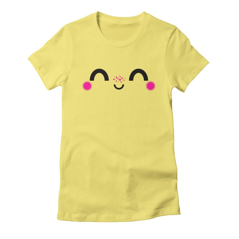 HAPPY FUN SMILE TIME! Women's Fitted T-Shirt by theGHOSTHEART's artist shop