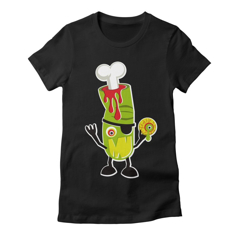 BAD TOUCH Women's Fitted T-Shirt by theGHOSTHEART's artist shop
