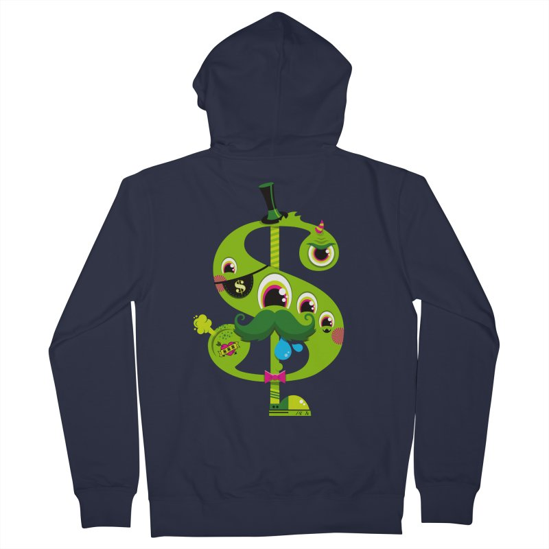 MO' MONEY. NO PROBLEMS Men's French Terry Zip-Up Hoody by theGHOSTHEART's artist shop