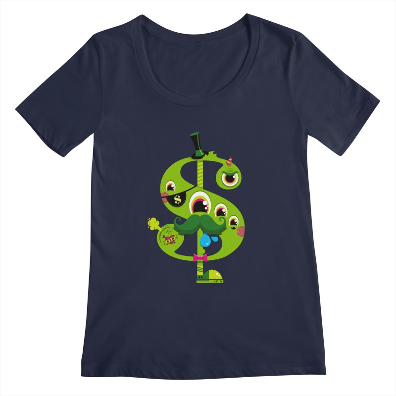 MO' MONEY. NO PROBLEMS Women's Regular Scoop Neck by theGHOSTHEART's artist shop