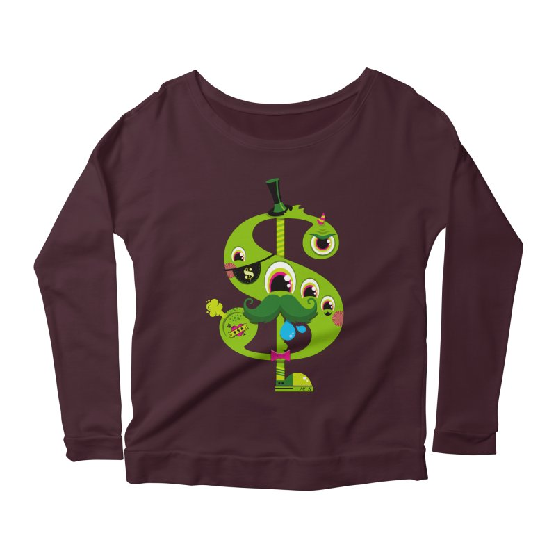 MO' MONEY. NO PROBLEMS Women's Scoop Neck Longsleeve T-Shirt by theGHOSTHEART's artist shop