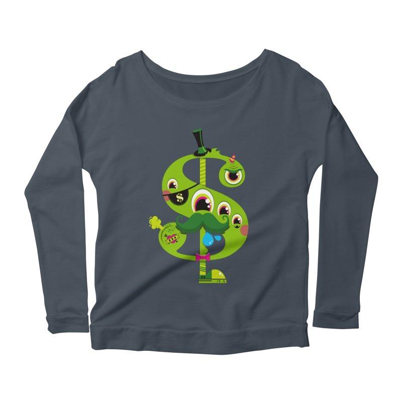 MO' MONEY. NO PROBLEMS Women's Scoop Neck Longsleeve T-Shirt by theGHOSTHEART's artist shop