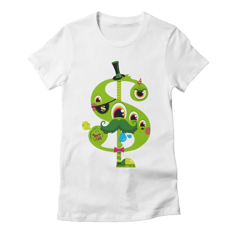 MO' MONEY. NO PROBLEMS Women's Fitted T-Shirt by theGHOSTHEART's artist shop