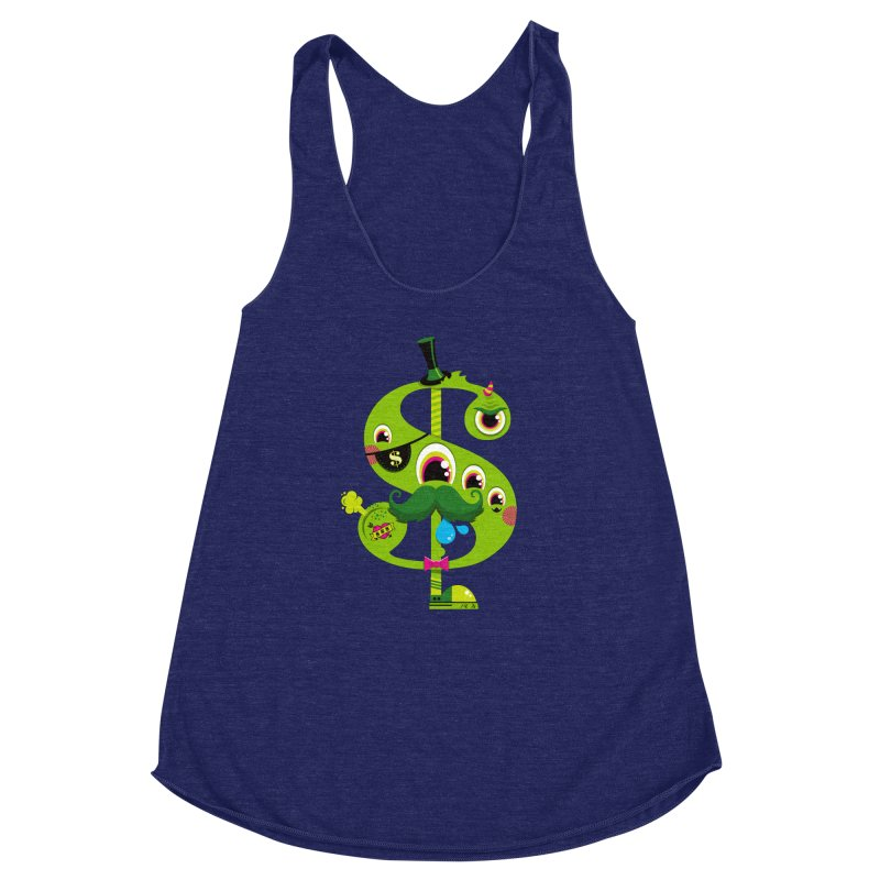 MO' MONEY. NO PROBLEMS Women's Racerback Triblend Tank by theGHOSTHEART's artist shop