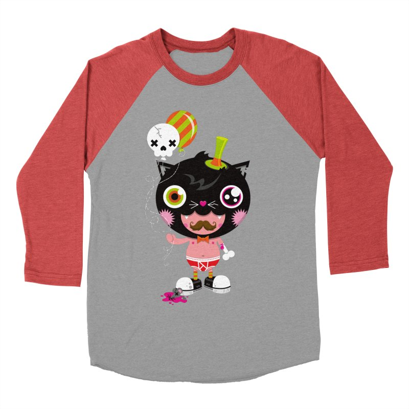 CATURDAY Women's Baseball Triblend Longsleeve T-Shirt by theGHOSTHEART's artist shop