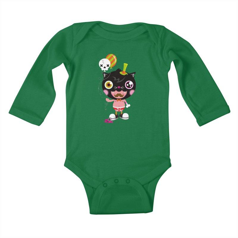 CATURDAY Kids Baby Longsleeve Bodysuit by theGHOSTHEART's artist shop