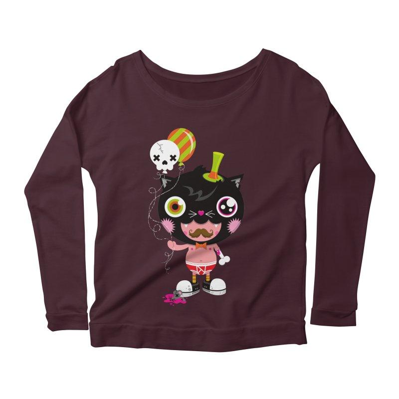 CATURDAY Women's Scoop Neck Longsleeve T-Shirt by theGHOSTHEART's artist shop