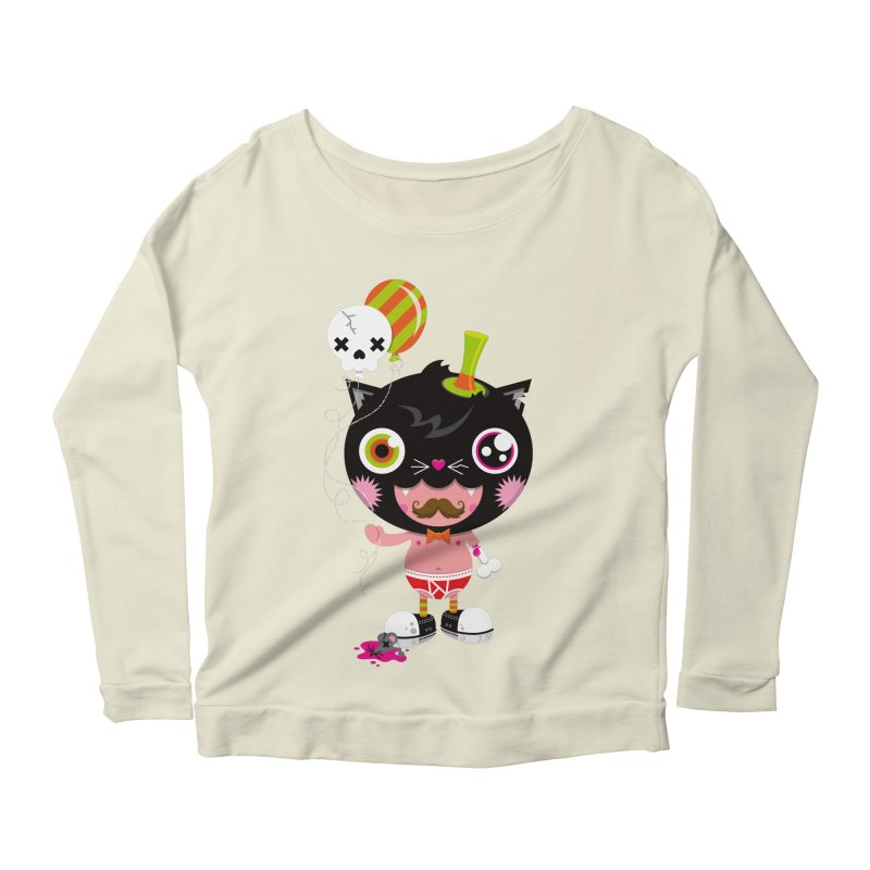 CATURDAY Women's Scoop Neck Longsleeve T-Shirt by theGHOSTHEART's artist shop