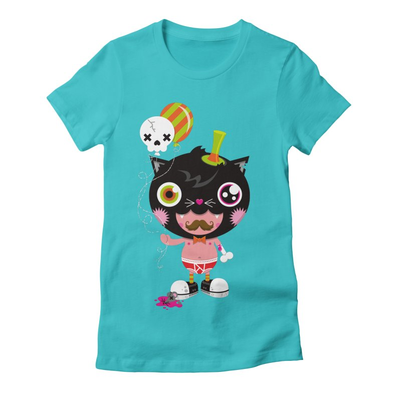 CATURDAY Women's Fitted T-Shirt by theGHOSTHEART's artist shop