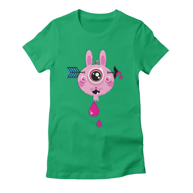 UNLUCKY Women's Fitted T-Shirt by theGHOSTHEART's artist shop