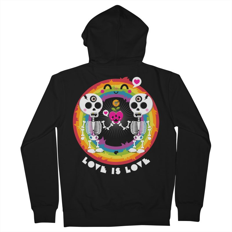 LOVE IS LOVE Men's French Terry Zip-Up Hoody by theGHOSTHEART's artist shop