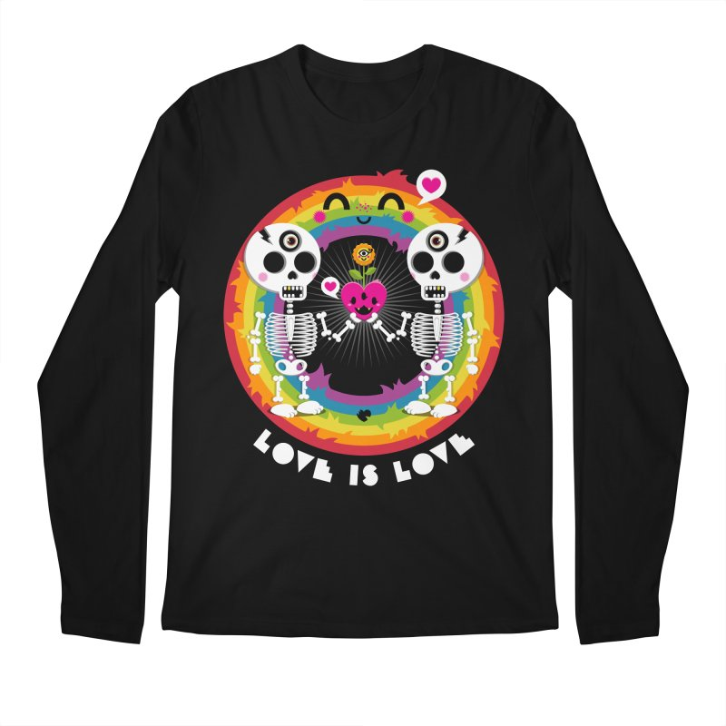 LOVE IS LOVE Men's Regular Longsleeve T-Shirt by theGHOSTHEART's artist shop
