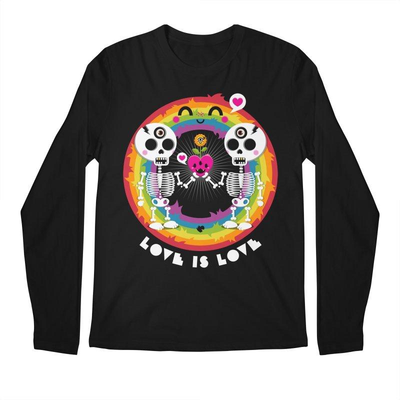 LOVE IS LOVE Men's Regular Longsleeve T-Shirt by theGHOSTHEART's artist shop