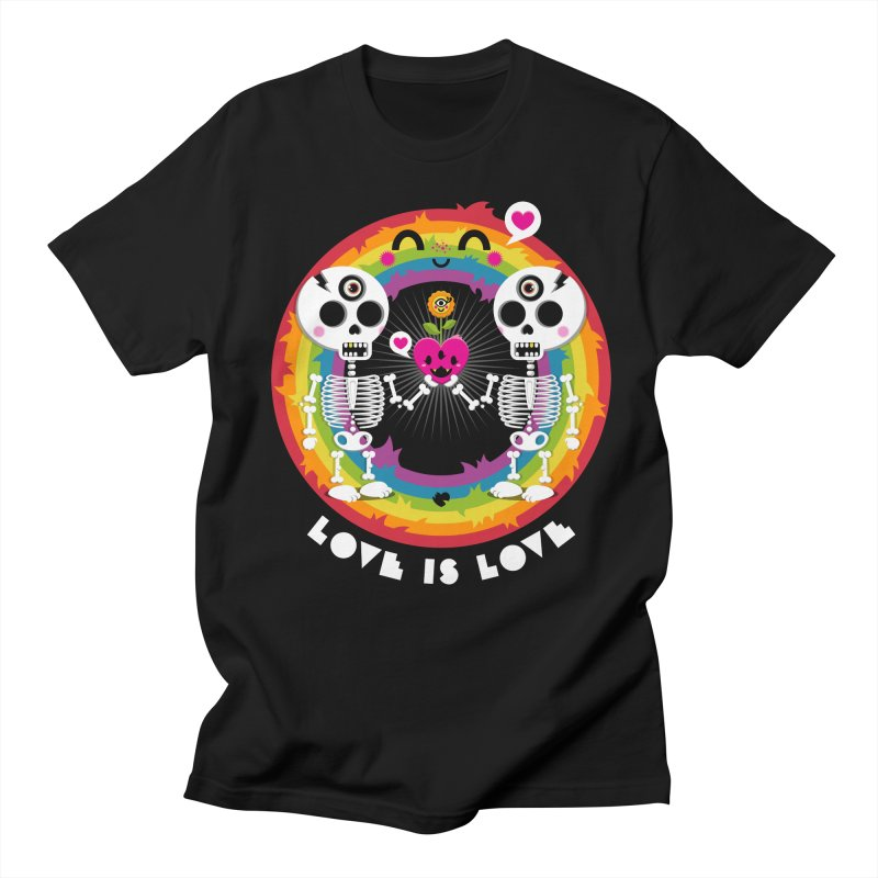 LOVE IS LOVE Men's Regular T-Shirt by theGHOSTHEART's artist shop
